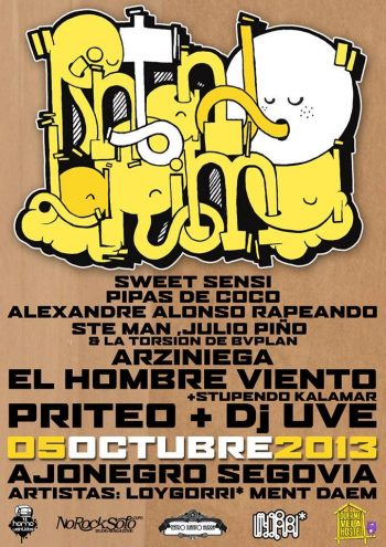 Priteo y DJ UVE en Segovia (2013)