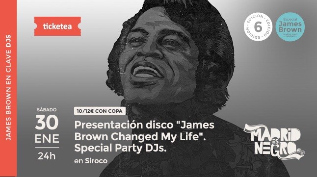 Entrada para la sesión de presentación de James Brown Changed My Life