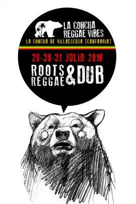 Cartel de La Concha Reggae Vibes 2016 - Novena edición