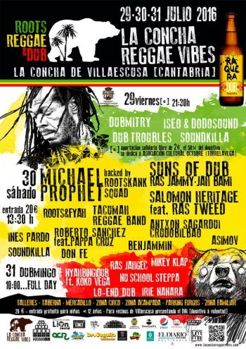 Cartel de La Concha Reggae Vibes 2016