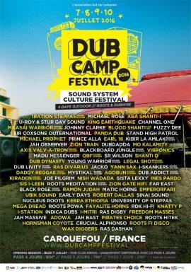 Cartel completo del Dub Camp Festival 2016