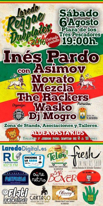 Cartel del Laredo Reggae Dubplates 2016 con Inés Pardo y Asimov