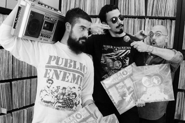 Nino, Balihas y UVE en plena grabación de La Concha de Plástico 2