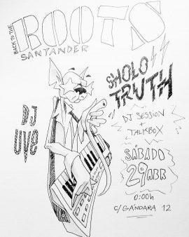 Ilustración de Sholo Truth para la fiesta.