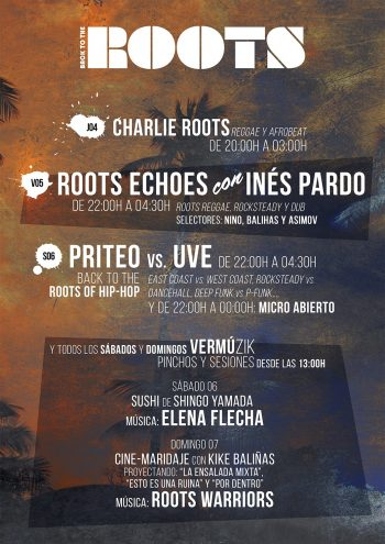Roots Echoes con Inés Pardo y Back To The Roots Of Hip-Hop con Priteo vs. UVE