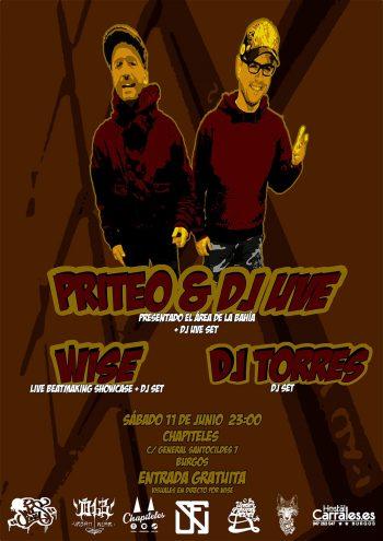 Priteo y DJ UVE en Burgos