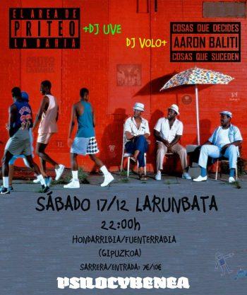 Priteo con DJ UVE y Aaron Baliti con DJ Volo en Hondarribia