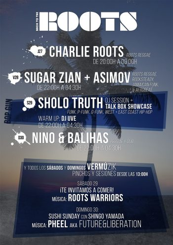 Sholo Truth con DJ UVE - Sugar Zian con Asimov - Roots