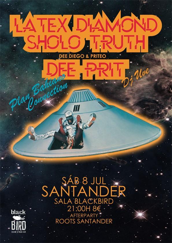 Latex Diamond, Sholo Truth y Dee Prit en directo