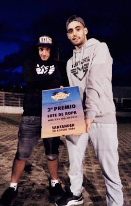 Los ganadores del 2º premio del Breakin' Beach 2016