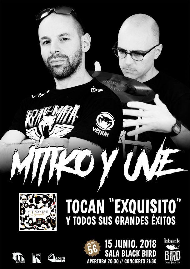 Mítiko + UVE en directo en el Black Bird