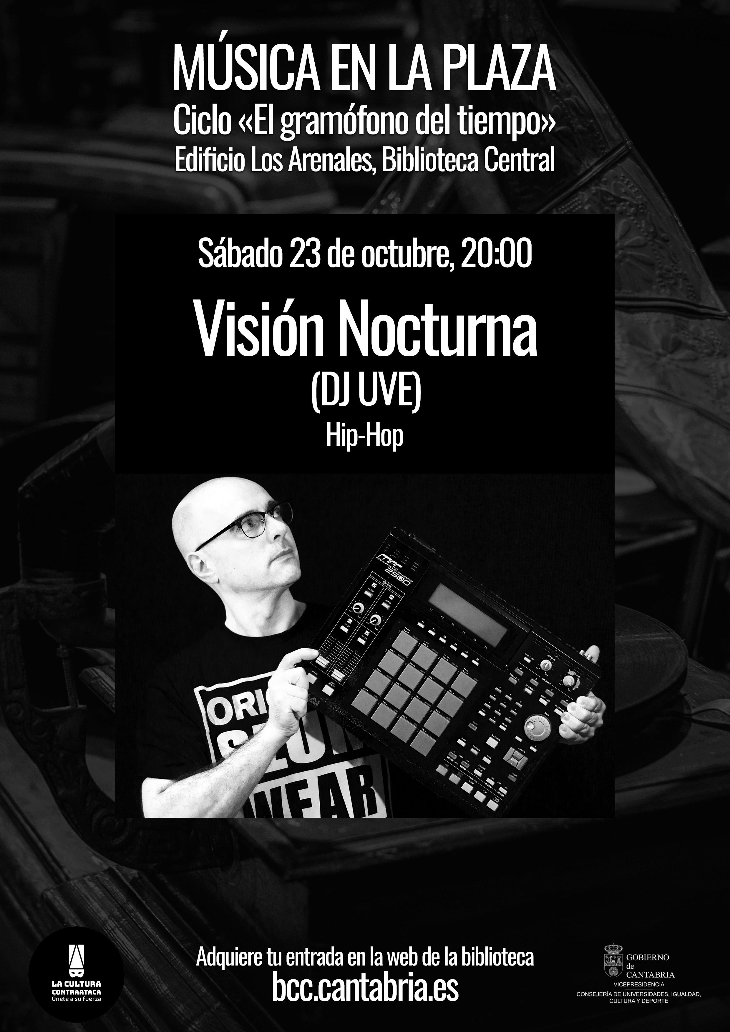Visión Nocturna en vivo en el Gramófono del Tiempo